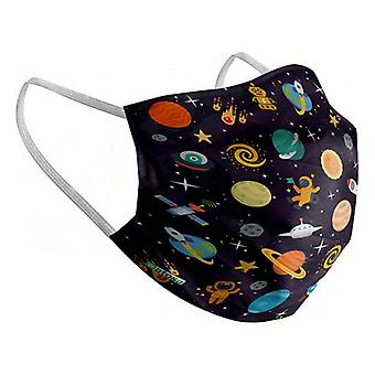 Hygienic Reusable Fabric Mask Space Children's