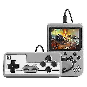 Built-in 800 Classic Games 8 Bit Video Game Console(Grey)