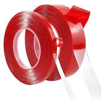 10m Doppelseitiges Klebeband Acryl, 2 Rolle Nano Spurloses Doppelseitiges Montage Klebeband