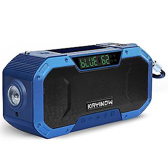 Solar hand-cranked radio, outdoor multi-function emergency radio, bluetooth speaker(Color-1)