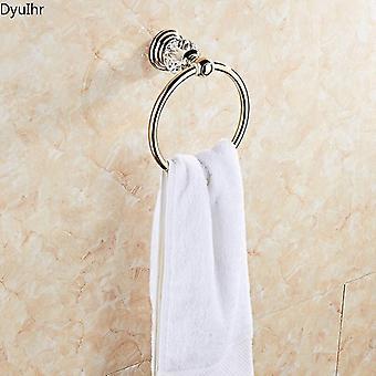 Golden Crystal Retro Håndklæde Ring Håndklæde Hængende Ring Badeværelse Håndklæde Håndklæde Bar Badeværelse