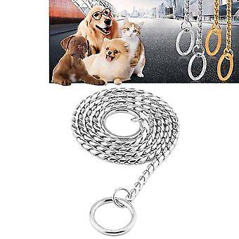 Pet Collars Pet Neck Strap Dog Neckband Snake Chain Dog Chain  Solid  Metal Chain Dog