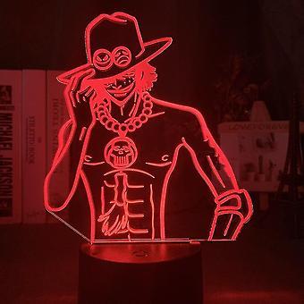 Ein Stück Ace Kinder Schlafzimmer Anime Nachtlicht Tischlampe 3d Led Nachtlicht