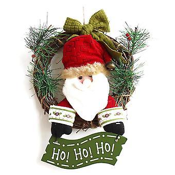 Santa Claus Christmas Wieniec Garland Xmas Dekoracja 30cm 1szt