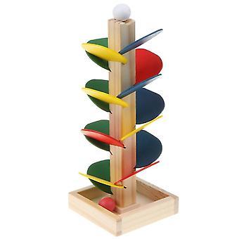 Kit di costruzione di strade di alberi di legno fai-da-te- Puzzle di costruzione di giochi di marble ball run