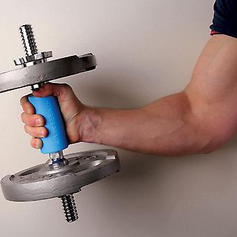 Fitness Mad Mega Bar Grip For Dumbbell Barbells & Cables Increased Grip - Bleu
