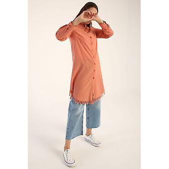 Tasseled Linen Shirt Tunic