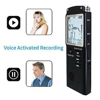 Grabadora de voz de 32 GB USB Professional 96 horas Dictáfono Grabadora de voz de audio digital con WAV