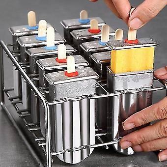 Ice pops creative eco friendly food grade stainless steel ice cream pop sickle freezer molds