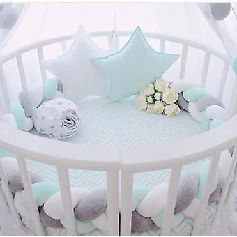 2020 New Infant Plush Crib Bumper Bedding Bed Cot Braid Pillow Pad Protector 2m