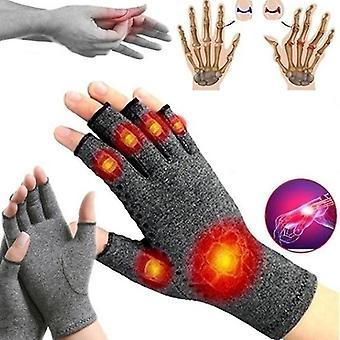 Guantes unisex para la artritis Guantes de medio dedo Compresión Pantalla táctil  Invierno(s)(Gris)