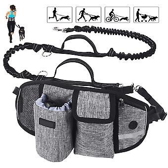 Pet Training Lommer, Pet Snack Tasker, Walking Dog Artefakter, Praktisk Løbelommer, Håndfri Hund Snore Gray