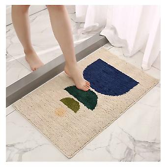 Saugfähige rutschfeste Fußmatte für Bad und WC Beige