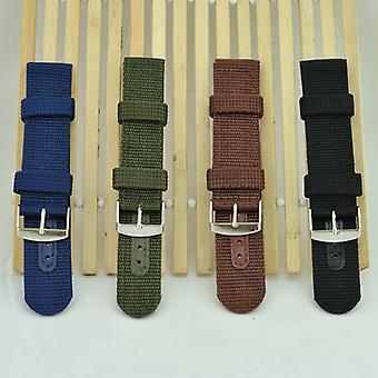 Simple Watch Band Solid Color Strap Nylon Mesh Watchbands 20mm 22mm 24mm Women Men Sport Watches