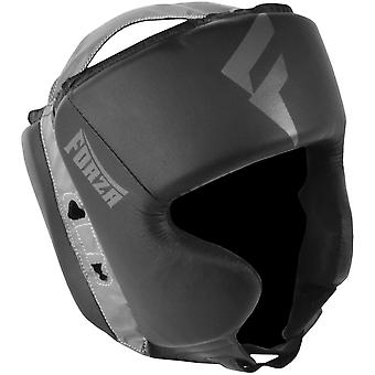 Forza Sports Vinyl Full Face Boxing and MMA Headgear - Black/Gray