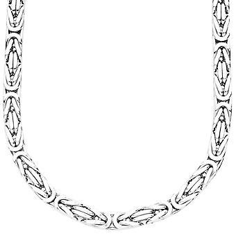 Sterling 925er Silber Königskette - BYZANTIN 6x6mm