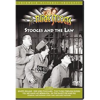 Três patetas - patetas & a lei [DVD] EUA importar