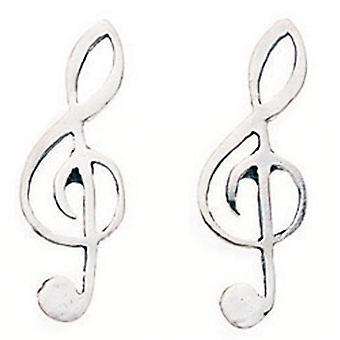 925 Silver key Earring Treble