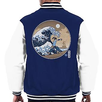 The Great Wave Of Republic Legend Of Korra Men's Varsity Jacket