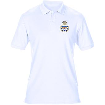 HMS Walney Embroidered Logo - Official Royal Navy Mens Polo Shirt