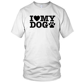 Jeg elsker min hund damer T skjorte