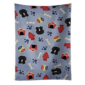 Ręcznik kuchenny Pekingnese czarny pies dom kolekcji