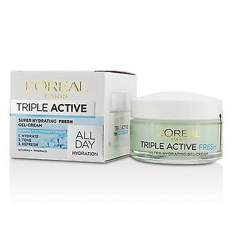 L ' Oreal Triple Active Super HYDRATING Fresh gel-crème-voor normale tot gecombineerde huid-50ml/1.7 oz