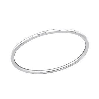 Strepen - 925 Sterling Zilver platte ringen - W34908X