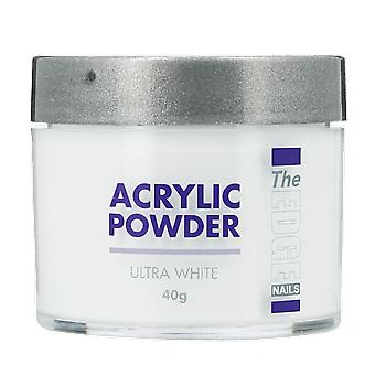 The Edge Nails Acrylic Powder Ultra White 40g