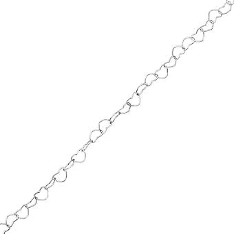 Heart Link Chain - 925 Sterling Silver Single Chains - W35725x
