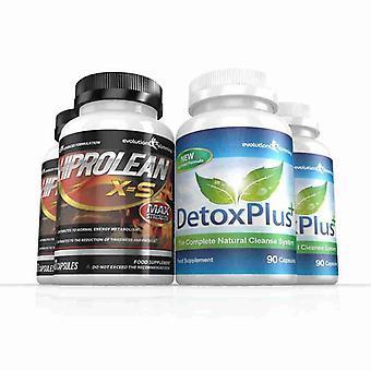 Hiprolean X-S hochfesten Fat Burner und Combo Pack - 2-Monats-Vorrat - Fatburner zu reinigen und Darmreinigung - Evolution abnehmen