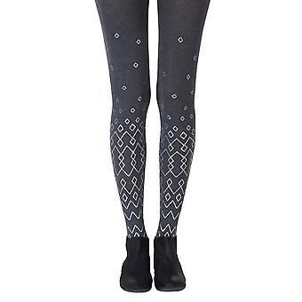 Zohara ZOF409-HGS Women's Diamonds Are Forever Heather Grey Fashion Tights