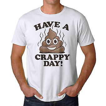 Humor Crappy Day Men's White T-shirt
