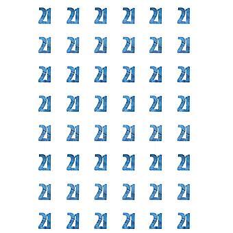 Verjaardag Glitz Blue - 21e verjaardag Prism hangende decoratie