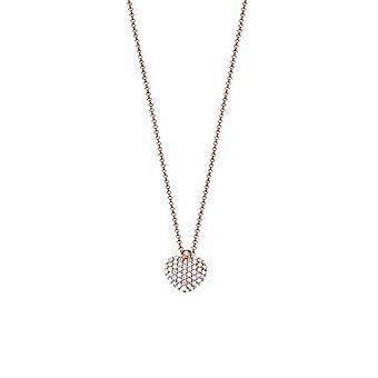 ESPRIT collection damer kedja halsband silver Rosé eufori ELNL92790B420