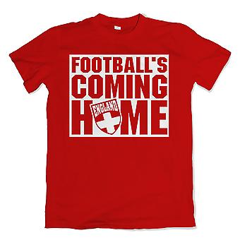 Engeland voetballen Coming Home T-Shirt (rood)