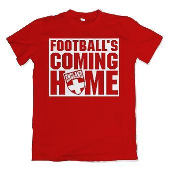 England-Fußbälle-Coming-Home-t-shirt (rot)