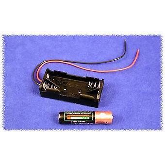Hammond elektronik BH2AAAW batterihållare 2 x AAA plast svart 1 dator