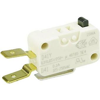 ZF Microswitch D413-V3AA 250 V AC 0.1 A 1 x On/(On) momentary 1 pc(s)