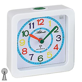 Atlanta white colorful quiet radio alarm clock for children 1853/0 alarm clock kids alarm clock