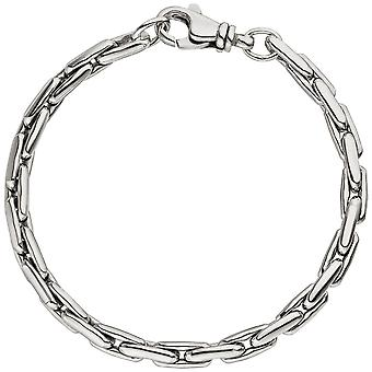 sillbernes bracelet in 925 sterling silver rhodium plated 19 cm bracelet silver carabiner