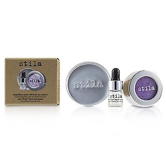 Stila Magnificent Metals Foil Finish Eye Shadow With Mini Stay All Day Liquid Eye Primer - # Metallic Violet - 2pcs