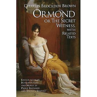 Ormond oder der geheime Zeuge - mit entsprechenden Texten von Charles Brockden