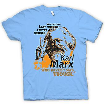 Barn T-shirt-Karl Marx sista ord - kommunismen - Marxism