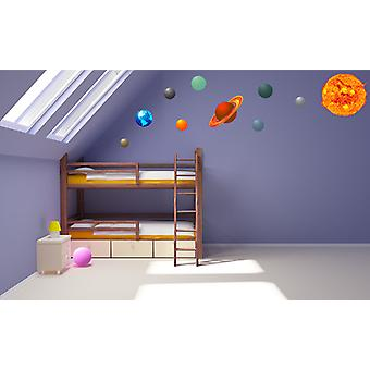Full Colour Solar System Wall Sticker