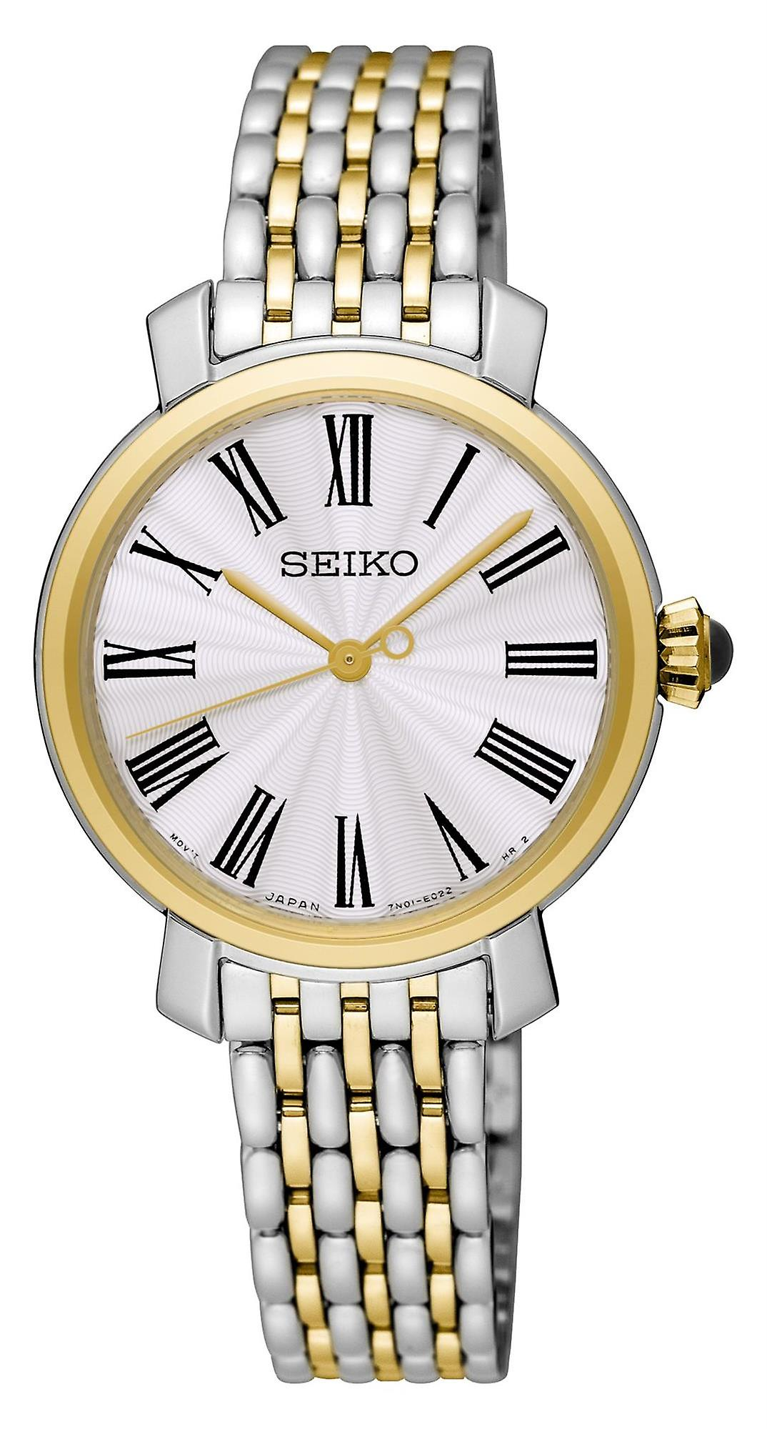Seiko Quartz Stainless Steel Gold Ladies Watch SRZ496P1