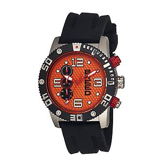 Breed Grand Prix Chronograph Men's Watch-Silver/Orange