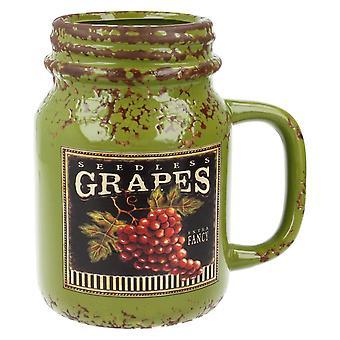 Menor & fruta Pavey colheita cerâmica Mason Jar LP27622