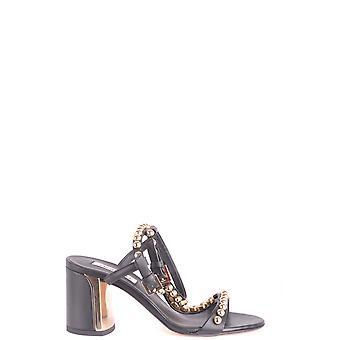 Ninalilou Ezbc115005 Women's Black Leather Sandals