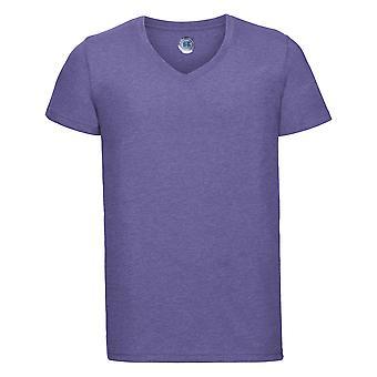 Russell Mens korte mouw v-hals HD T-Shirt